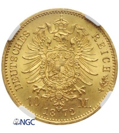Niemcy - Prusy 10 marek 1872 A, Berlin - NGC MS 66