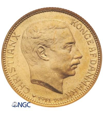 Dania 20 koron 1914 - NGC MS 66