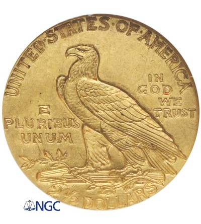 USA 2,5 dolara 1928 Quartel Eagel - Indian Head, NGC MS 63