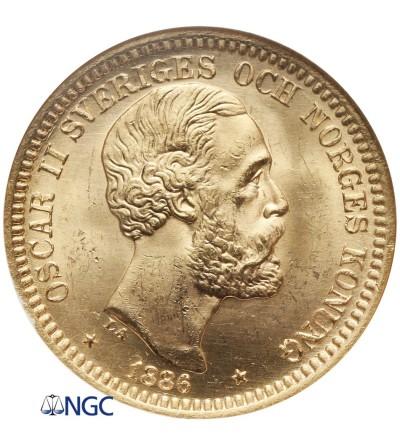 Szwecja 20 koron 1886 EB - NGC MS 64