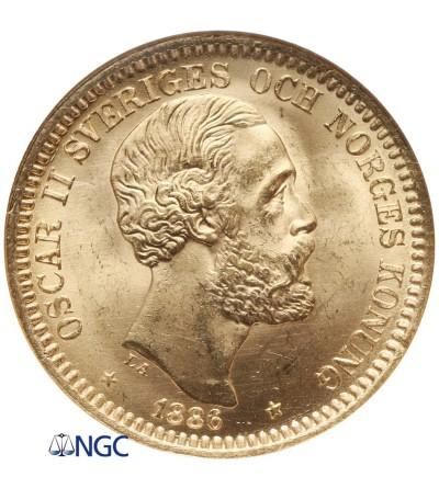 Szwecja 20 koron 1886 EB - NGC MS 65