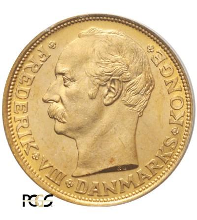 Dania 20 koron 1912 VBP - PCGS MS 65