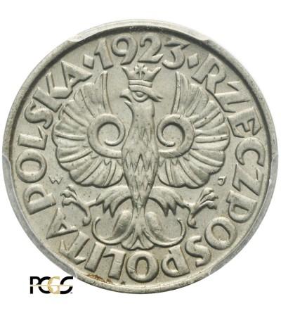 Poland 20 Groszy 1923, Warsaw - PCGS MS 65