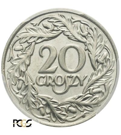 20 groszy 1923, Warszawa - PCGS MS 66