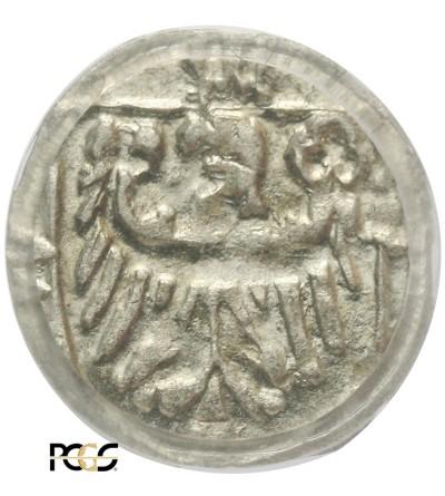 Śląsk. Wołów. Halerz bez daty ok.1430-1440 - PCGS MS 63