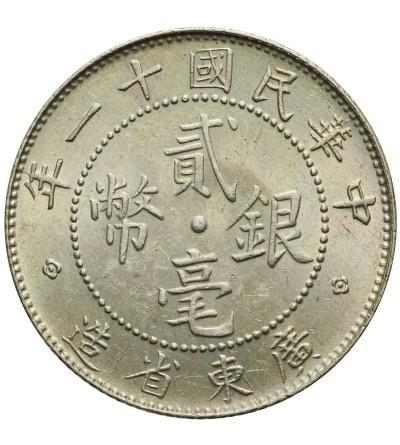 Chiny Kwantung 20 centów 1922