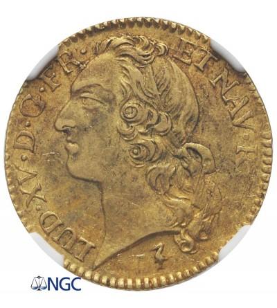 Francja 1 Louis d'or 1748 W, Lille - NGC AU 55