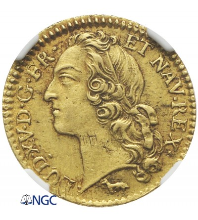 Francja 1 Louis d'or 1756 A, Paryż - NGC AU 58