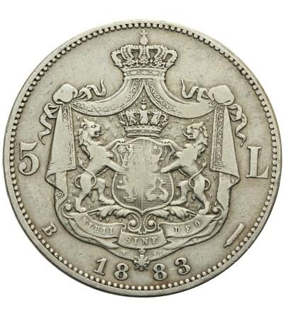 Rumunia 5 lei 1883