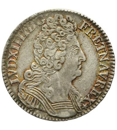 1/2 Ecu aux trois couronnes 1710 A, Paris