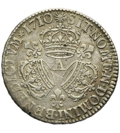 1/2 Ecu aux trois couronnes 1710 A, Paryż