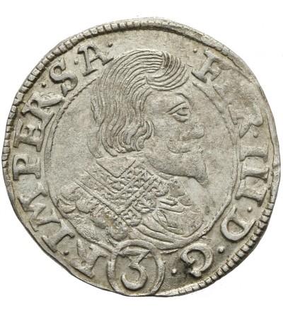3 krajcary 1638, Praga