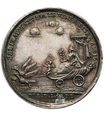 Polska medal zaślubinowy królewicza Fryderyka Augusta z Marią Józefą z 1719 roku