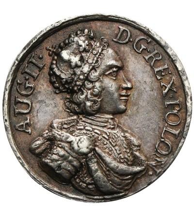 Medalik 1699 wybity z okazji wizyty Augusta Mocnego w Lipsku