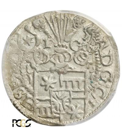 Schleswig-Holstein-Schauenburg 1/24 talara (Grosz) 1596 - PCGS MS 63
