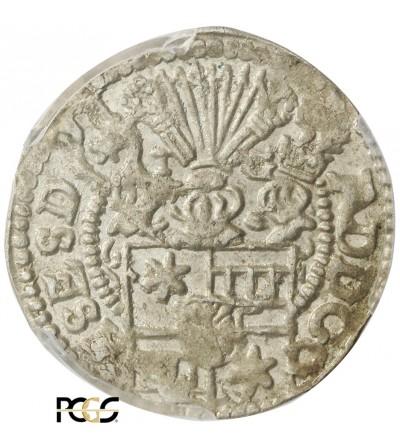Schleswig-Holstein-Schauenburg 1/24 talara (Grosz) 1598 - PCGS MS 62
