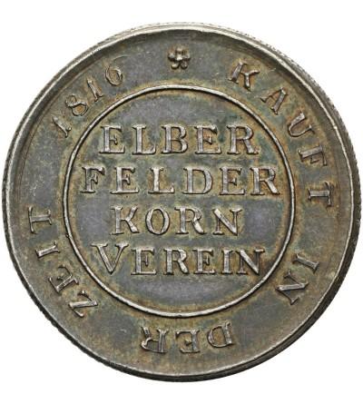 Wupertal. Elberfeld 1 BROD 1816/1817 - żeton (moneta zastępcza) na chleb.