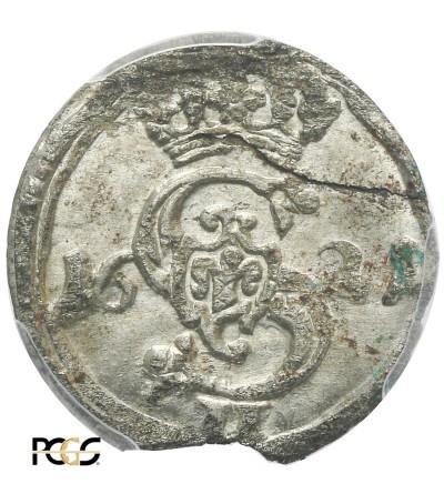 Dwudenar 1621, Wilno - PCGS UNC MS 62