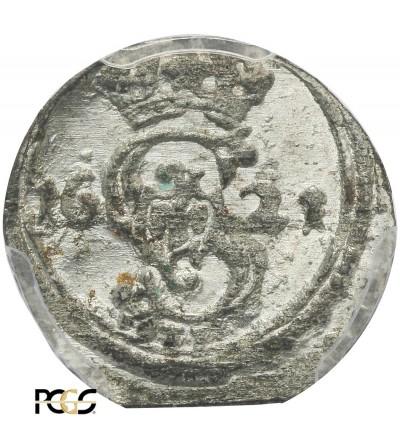 Dwudenar 1621, Wilno - PCGS UNC MS 63
