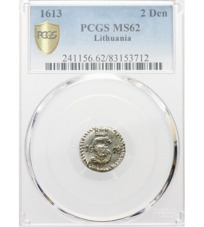 Dwudenar 1613, Wilno - PCGS MS 62