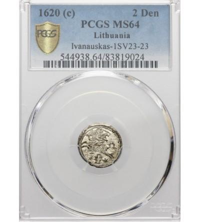 Dwudenar 1620, Wilno - PCGS UNC MS 64