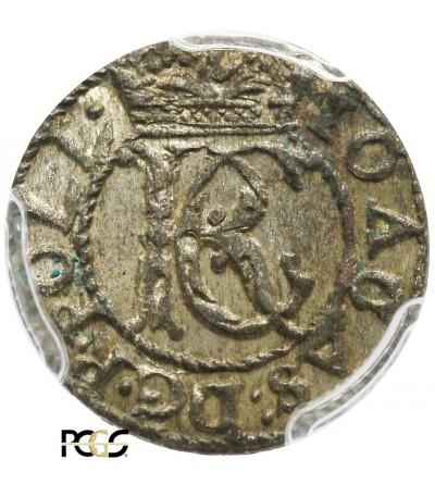 Szeląg litewski 1652, Wilno - PCGS MS 62