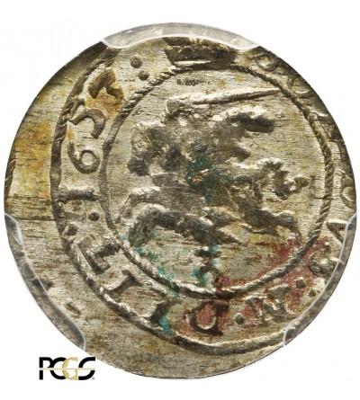 Szeląg litewski 1653, Wilno - PCGS MS 62