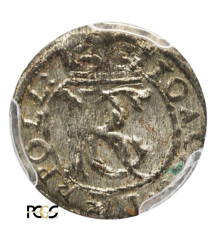 Szeląg litewski 1653, Wilno - PCGS MS 63
