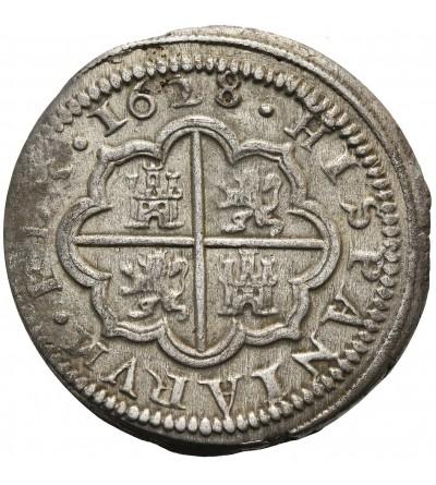 Hiszpania 2 reale 1628 P, Segovia