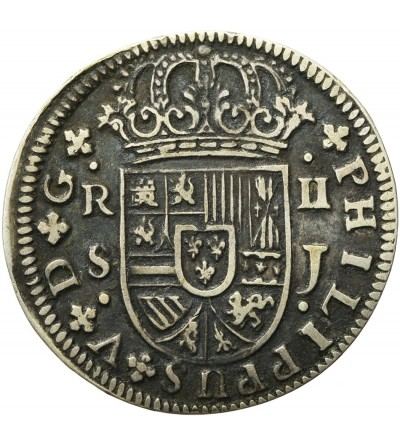 Hiszpania 2 reale 1725 J, Sevilla