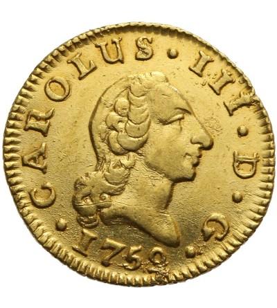 Hiszpania 1/2 escudo 1759 JP, Madryt