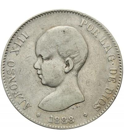 Hiszpania 5 pesetas 1888