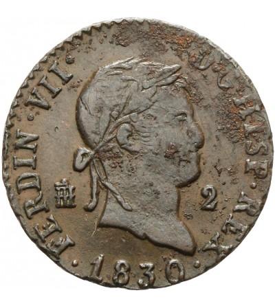 Hiszpania 2 maravedis 1830