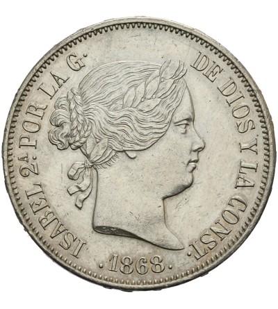 Hiszpania 2 escudos 1868