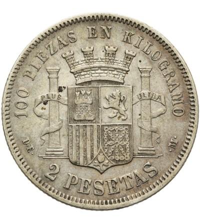 Hiszpania 2 pesetas 1870/ 74 DE M