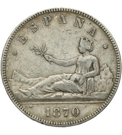 Hiszpania 5 pesetas 1870