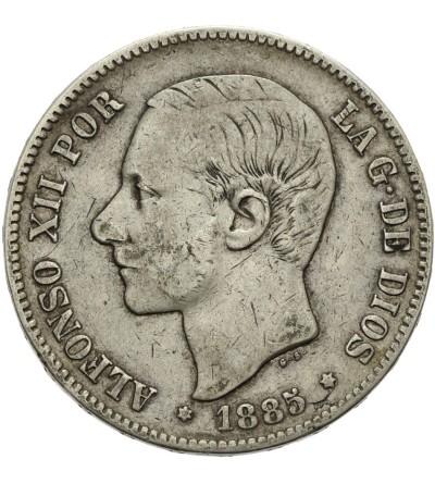 Hiszpania 5 pesetas 1885