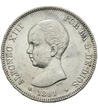 Hiszpania 5 pesetas 1891