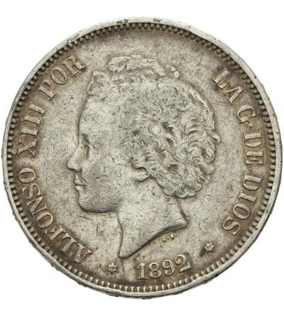 Hiszpania 5 pesetas 1892