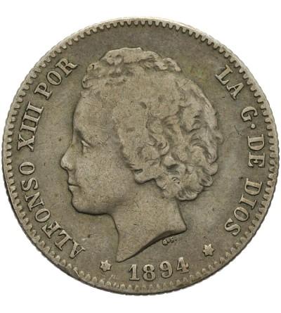Hiszpania 1 peseta 1894