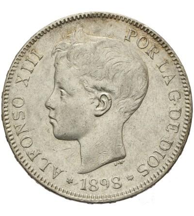 Hiszpania 5 pesetas 1898