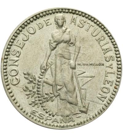 Spain 2 Pesetas 1937, Asturias and Leon