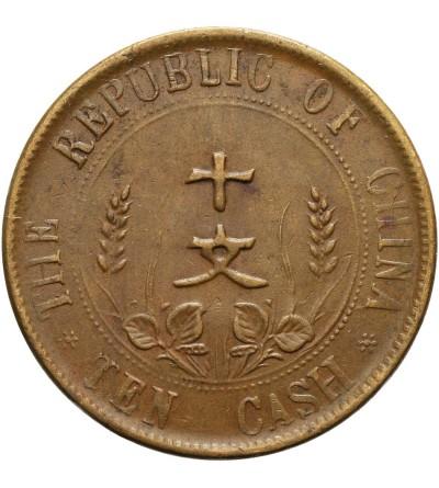 Chiny Republika 10 cash (10 Wen) bez daty (1912)