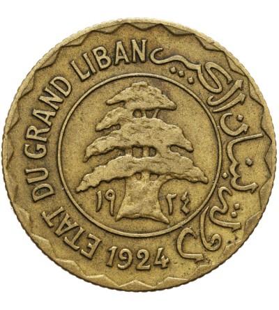 Liban 5 piastrów 1924