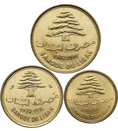 Liban 5, 10, 25 piastrów 1970-1972, 3 sztuki