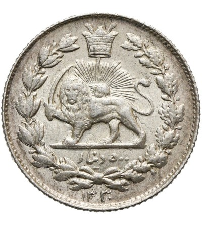 Iran 500 Dinars (10 Shahis 1/2 Kran) AH 1330 / 1911 AD