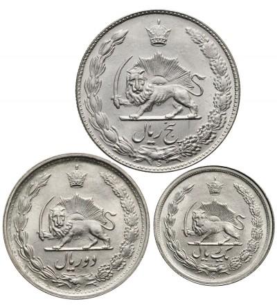 Iran 1, 2, 5 Rials AH 1348, 1341, 1351