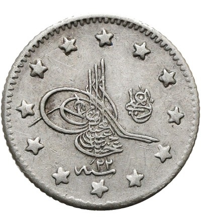 Turcja 1 kurush AH 1293 rok 22 / 1896 AD, Abdul Hamid II