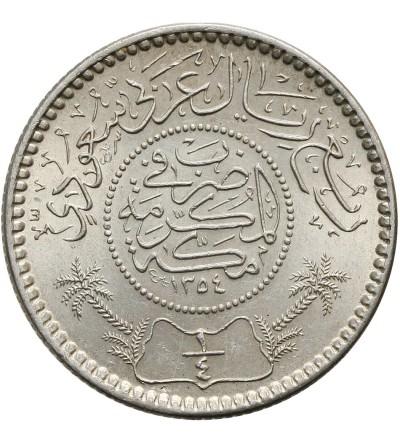 Saudi Arabia 1/4 Riyal AH 1354 / 1935 AD