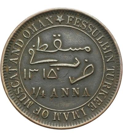 Muskat i Oman 1/4 anna 1315 AH / 1897 AD